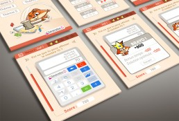 mascotte sur interface graphique iPad