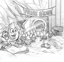 rough style BD - cartoon