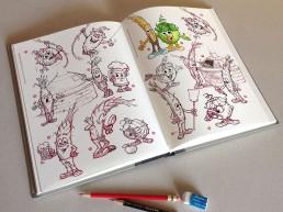planche recherche personnages mascotte