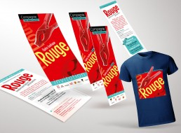 Création flyers, marque-pages, Tshirts et banderoles