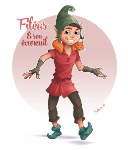 Dominique SENON - illustration elfe, lutin