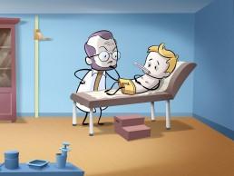 illustration chez le médecin généraliste