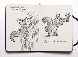Dominique SENON -Mascotte écureuil