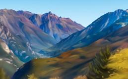 table d'orientation peinture numérique