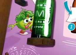 personnage mascotte sur module pédagogique