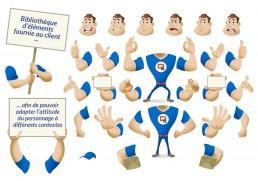 Dupessey personnage mascotte en kit